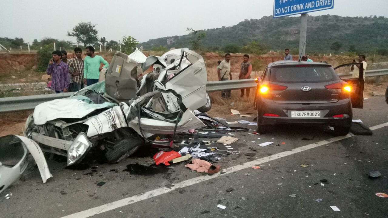 One fatal accident occurred at 1720 hrs on ORR, Hyderabad.