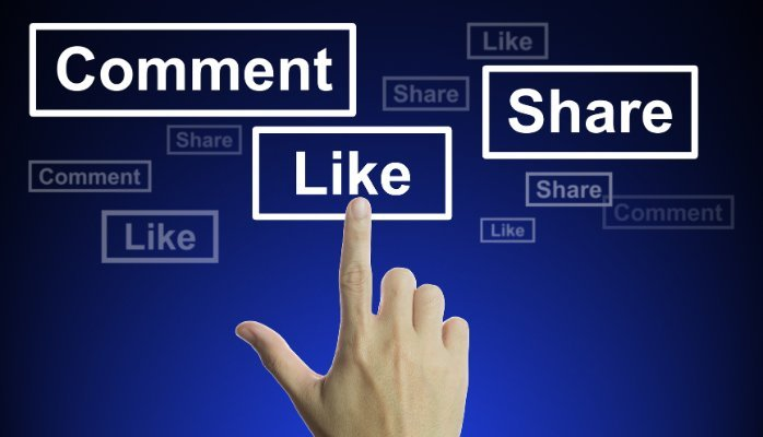 Facebook likes, comments & shares