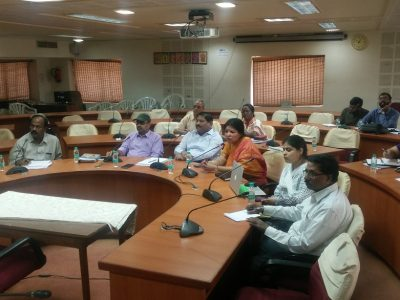Video conference conducted by C Parthasarathi on Tuesday.