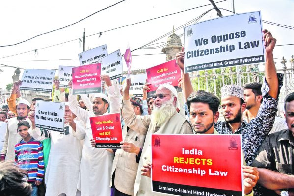 Watch: Protests against Citizenship (Amendment) Bill held in Hyderabad
