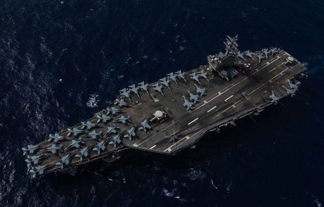 United States aircraft carrier's Indo-Pacific deployment begins