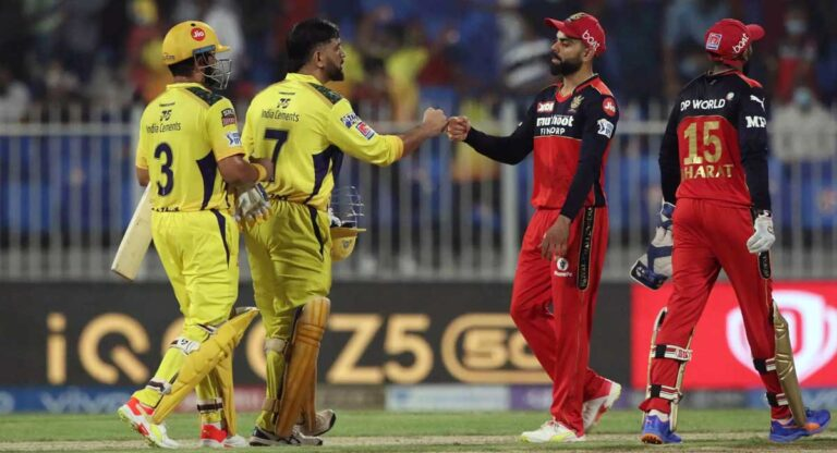 IPL 2021:  CSK beats RCB, back on top of the table